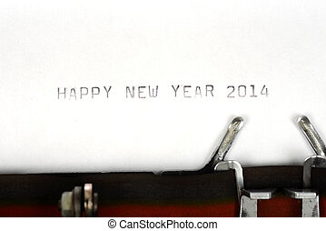Happy New Year 2014 - Happy new year 2014 type on typewriter