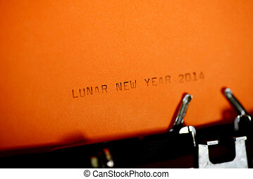 Lunar New Year Typing - Lunar New Year type on old...