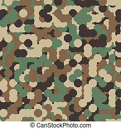 Abstract Seamless Vector Military Camouflage Background