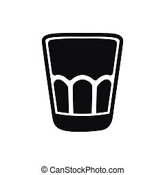 Shot glass icon isolated on white background.