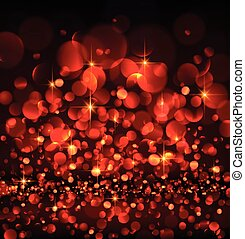 Abstract festive red luminous background. Vector...