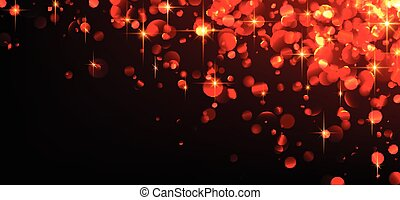 Red abstract luminous background. Vector illustration.
