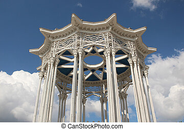 """Fragment of pavilion  """"Culture"""". VDNKh in Moscow"""