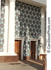 Entrance doors to the pavilion Culture. VDNKh (VVC) -...