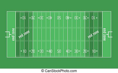 Vector Grass Textured American Football Field.