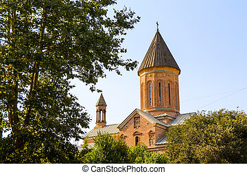 View of a historical  church in Tbilisi