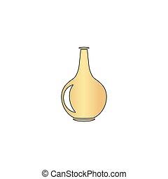 Amphora computer symbol - Amphora Gold vector icon with...