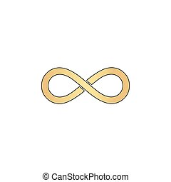 Infinity computer symbol - Infinity Gold vector icon with...