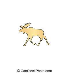 Moose computer symbol - Moose Gold vector icon with black...