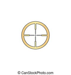 Crosshair computer symbol - Crosshair Gold vector icon with...