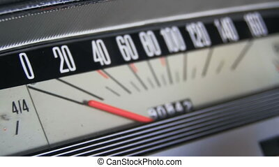 Vintage car speedometer. - Vintage retro speedometer and...