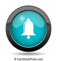 Bell icon. Bell website button on white background.