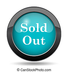 Sold out icon. Sold out website button on white background.
