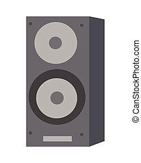 Musical Loud Speaker Isolated. Acoustic Amplifier.