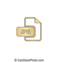 JPG computer symbol - JPG Gold vector icon with black...