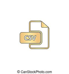 CSV computer symbol - CSV Gold vector icon with black...
