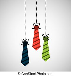 celebration happy fathers day tie hanging decoration