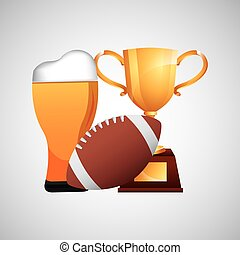fathers day beer football trophy icons