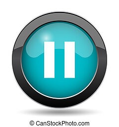 Pause icon. Pause website button on white background.