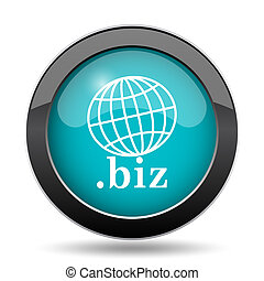 .biz icon. .biz website button on white background.