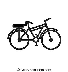 bicycle gray scale contour to the right vector illustration