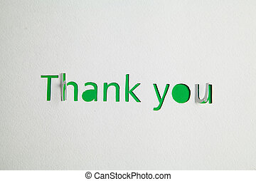 Thank you cut out from paper - Sign Thank you cut out from...