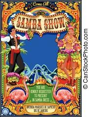 Rio Carnival Poster Invite Brazil Carnaval Mask Show Parade