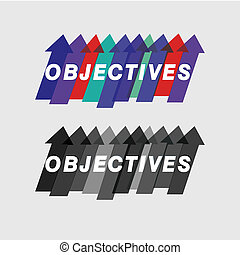 The objectives and purposes- vector graphic