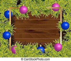 Bolas, Natal, Ilustração, Quadro