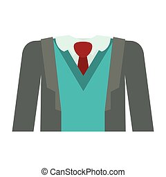 full formal attire with tie