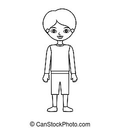 child silhouette with t-shirt pants and shoes