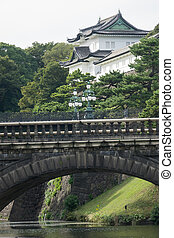 japan imperial - Imperial Palace with Nijubashi Bridge in...
