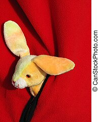 Bunny in Sweater Pocket - Plush bunny rabbit toy in the...
