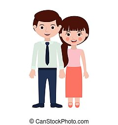 persons togheter with hands entwined vector illustration