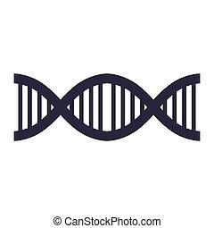 DNA strand silhouette with code genetical vector...