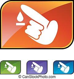 Diabetes Test icon set