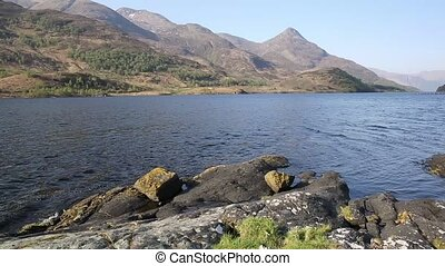 Beautiful Scottish Loch Leven Scotland UK in summer with...