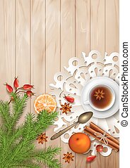 Christmas Tea Party Background - Christmas tea party...