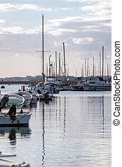 Olhao city marina - View of the olhao city marina with...