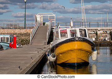 Olhao city docks - View of the olhao city docks with...