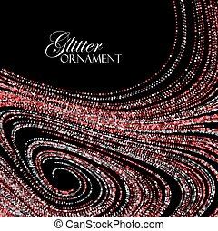 Luxury festive background with shiny red ruby glitters. -...