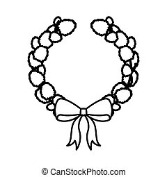 crown Christmas ornament silhouette with ribbon