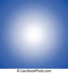 Abstract Twist Line on Blue Background