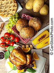 Christmas meal - Seasonal thanksgiving christmas savory and...