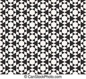 Vector Seamless Black And White Triangle Tessellation...