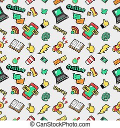 Social Networks Seamless Background - Social Networks...