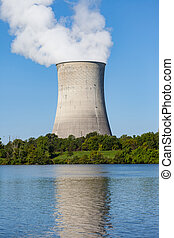 Nuclear Plant Cooling Tower - Reflection of a nuclear plant...