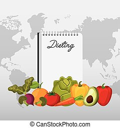 healthy food for dieting design