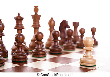 chess pieces - wooden chess pieces