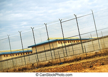 Correctional Facility outside the fence.